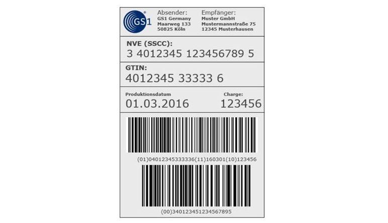 Etichetta di trasporto GS1 con NVE / SSCC