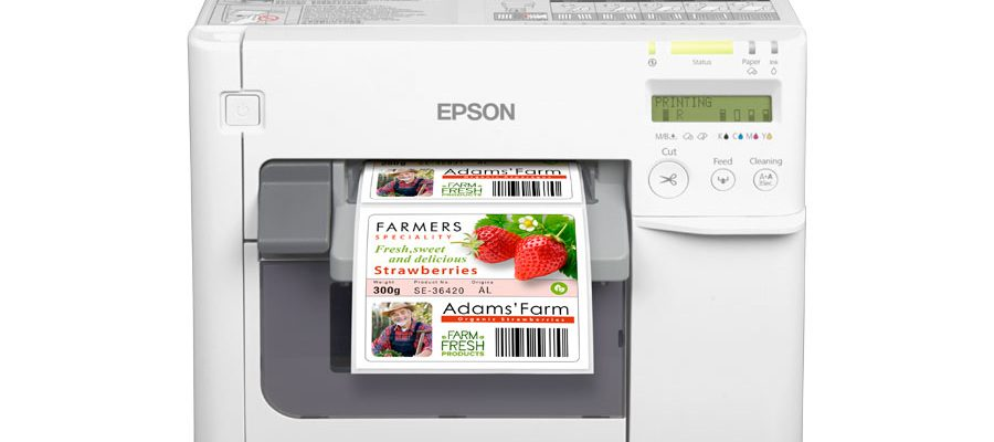 An Epson color label printer